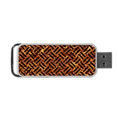 Woven2 Black Marble & Copper Foil (r) Portable Usb Flash (two Sides) by trendistuff