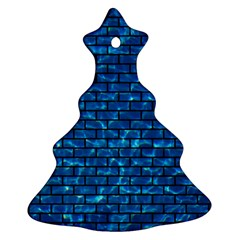 Brick1 Black Marble & Deep Blue Water (r) Christmas Tree Ornament (two Sides) by trendistuff