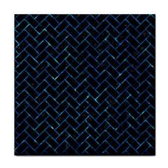 Brick2 Black Marble & Deep Blue Water Tile Coasters by trendistuff