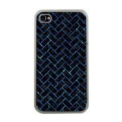 Brick2 Black Marble & Deep Blue Water Apple Iphone 4 Case (clear) by trendistuff
