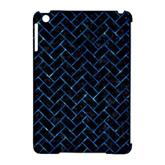 Brick2 Black Marble & Deep Blue Water Apple Ipad Mini Hardshell Case (compatible With Smart Cover) by trendistuff