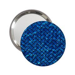 Brick2 Black Marble & Deep Blue Water (r) 2 25  Handbag Mirrors by trendistuff