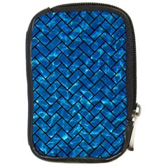 Brick2 Black Marble & Deep Blue Water (r) Compact Camera Cases by trendistuff