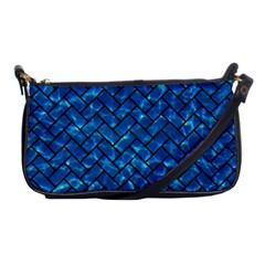 Brick2 Black Marble & Deep Blue Water (r) Shoulder Clutch Bags by trendistuff
