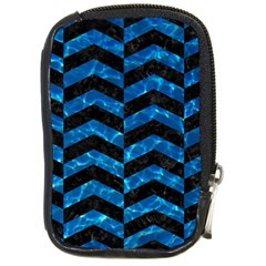 Chevron2 Black Marble & Deep Blue Water Compact Camera Cases by trendistuff
