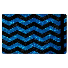 Chevron3 Black Marble & Deep Blue Water Apple Ipad Pro 12 9   Flip Case by trendistuff