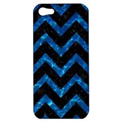 Chevron9 Black Marble & Deep Blue Water Apple Iphone 5 Hardshell Case by trendistuff