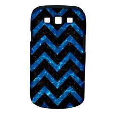 Chevron9 Black Marble & Deep Blue Water Samsung Galaxy S Iii Classic Hardshell Case (pc+silicone) by trendistuff