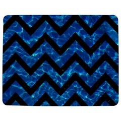 Chevron9 Black Marble & Deep Blue Water (r) Jigsaw Puzzle Photo Stand (rectangular) by trendistuff