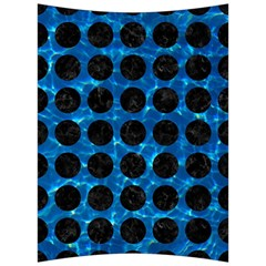 Circles1 Black Marble & Deep Blue Water (r) Back Support Cushion by trendistuff
