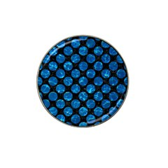 Circles2 Black Marble & Deep Blue Water Hat Clip Ball Marker (4 Pack) by trendistuff