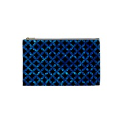Circles3 Black Marble & Deep Blue Water Cosmetic Bag (small)  by trendistuff