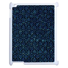 Hexagon1 Black Marble & Deep Blue Water Apple Ipad 2 Case (white) by trendistuff