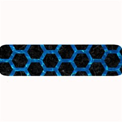 Hexagon2 Black Marble & Deep Blue Water Large Bar Mats by trendistuff