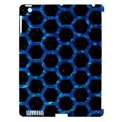 Hexagon2 Black Marble & Deep Blue Water Apple Ipad 3/4 Hardshell Case (compatible With Smart Cover) by trendistuff