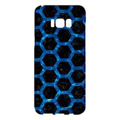 Hexagon2 Black Marble & Deep Blue Water Samsung Galaxy S8 Plus Hardshell Case  by trendistuff