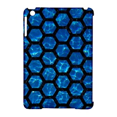 Hexagon2 Black Marble & Deep Blue Water (r) Apple Ipad Mini Hardshell Case (compatible With Smart Cover) by trendistuff