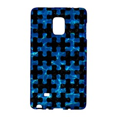 Puzzle1 Black Marble & Deep Blue Water Galaxy Note Edge by trendistuff