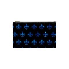 Royal1 Black Marble & Deep Blue Water (r) Cosmetic Bag (small)  by trendistuff