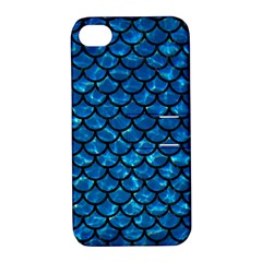 Scales1 Black Marble & Deep Blue Water (r) Apple Iphone 4/4s Hardshell Case With Stand by trendistuff