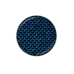 Scales3 Black Marble & Deep Blue Water Hat Clip Ball Marker (4 Pack) by trendistuff