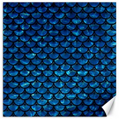 Scales3 Black Marble & Deep Blue Water (r) Canvas 20  X 20   by trendistuff