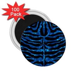 Skin2 Black Marble & Deep Blue Water 2 25  Magnets (100 Pack)  by trendistuff