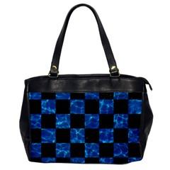 Square1 Black Marble & Deep Blue Water Office Handbags by trendistuff