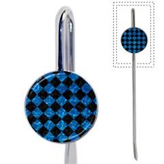 Square2 Black Marble & Deep Blue Water Book Mark by trendistuff
