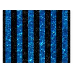 Stripes1 Black Marble & Deep Blue Water Rectangular Jigsaw Puzzl by trendistuff