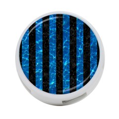 Stripes1 Black Marble & Deep Blue Water 4 Port Usb Hub (one Side) by trendistuff