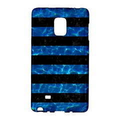 Stripes2 Black Marble & Deep Blue Water Galaxy Note Edge by trendistuff