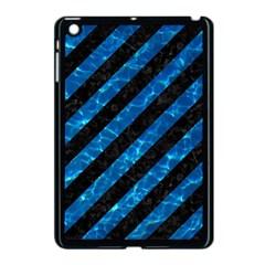 Stripes3 Black Marble & Deep Blue Water Apple Ipad Mini Case (black) by trendistuff