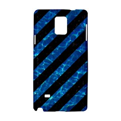 Stripes3 Black Marble & Deep Blue Water Samsung Galaxy Note 4 Hardshell Case by trendistuff