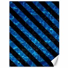 Stripes3 Black Marble & Deep Blue Water (r) Canvas 36  X 48   by trendistuff