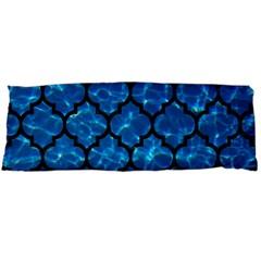 Tile1 Black Marble & Deep Blue Water (r) Body Pillow Case (dakimakura) by trendistuff