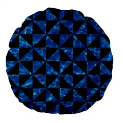 Triangle1 Black Marble & Deep Blue Water Large 18  Premium Flano Round Cushions by trendistuff