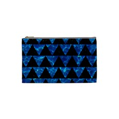 Triangle2 Black Marble & Deep Blue Water Cosmetic Bag (small)  by trendistuff