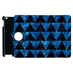 Triangle2 Black Marble & Deep Blue Water Apple Ipad 2 Flip 360 Case by trendistuff