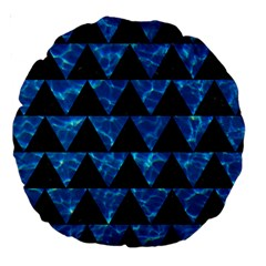 Triangle2 Black Marble & Deep Blue Water Large 18  Premium Round Cushions by trendistuff