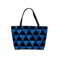 Triangle3 Black Marble & Deep Blue Water Shoulder Handbags by trendistuff