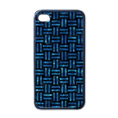 Woven1 Black Marble & Deep Blue Water Apple Iphone 4 Case (black) by trendistuff