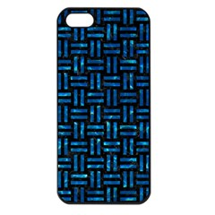 Woven1 Black Marble & Deep Blue Water Apple Iphone 5 Seamless Case (black) by trendistuff