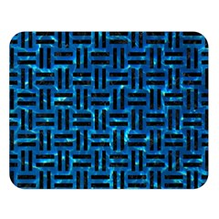 Woven1 Black Marble & Deep Blue Water (r) Double Sided Flano Blanket (large)  by trendistuff