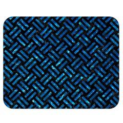 Woven2 Black Marble & Deep Blue Water Double Sided Flano Blanket (medium)  by trendistuff