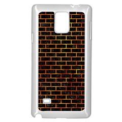 Brick1 Black Marble & Fire Samsung Galaxy Note 4 Case (white) by trendistuff