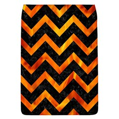 Chevron9 Black Marble & Fire Flap Covers (l)  by trendistuff