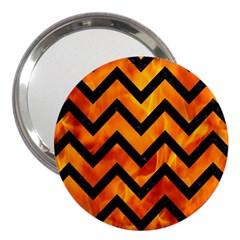 Chevron9 Black Marble & Fire (r) 3  Handbag Mirrors by trendistuff
