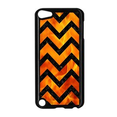 Chevron9 Black Marble & Fire (r) Apple Ipod Touch 5 Case (black) by trendistuff