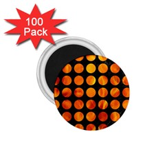 Circles1 Black Marble & Fire 1 75  Magnets (100 Pack)  by trendistuff